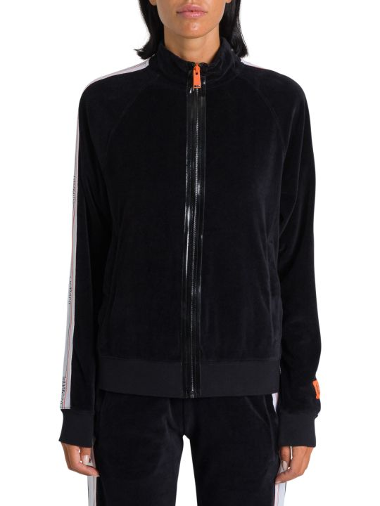 HERON PRESTON Velvet Track Jacket