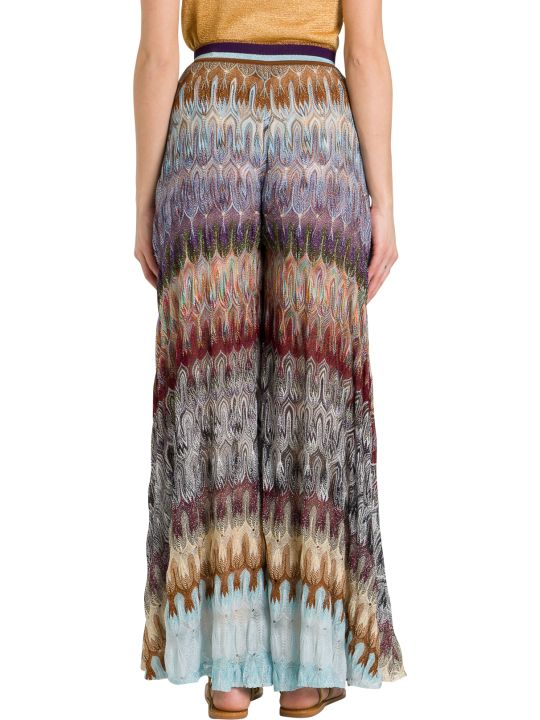 Missoni Wide Trousers In Lurex Knit