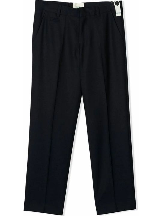 Fendi Navy Wool Trousers