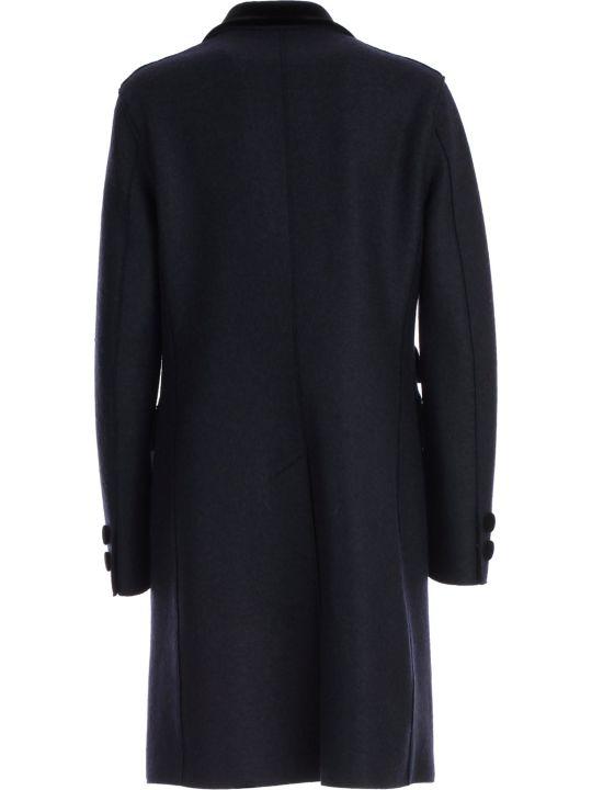 Harris Wharf London Coat Single Breasted Velvet Collar