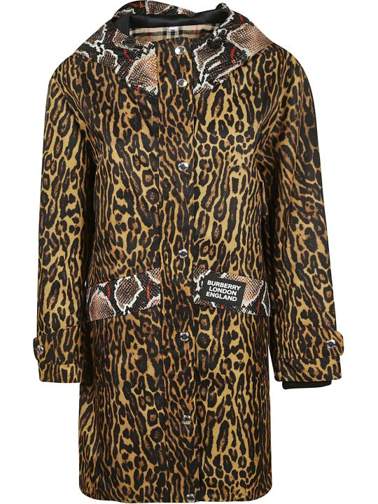 Burberry Leopard Skin-effect Coat