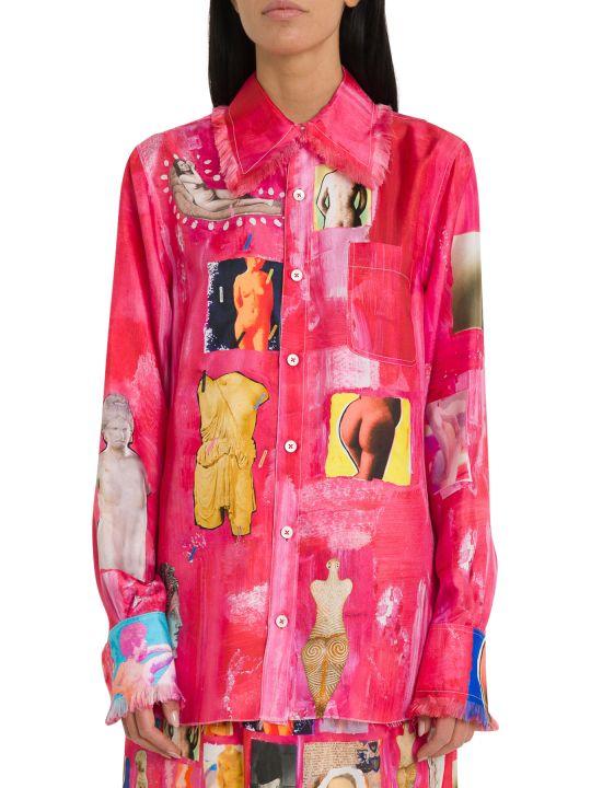 Marni Silk Twill Shirt With Opi Print