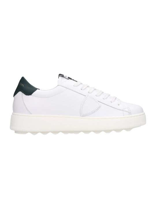 Philippe Model Madeleine Sneakers In White Leather