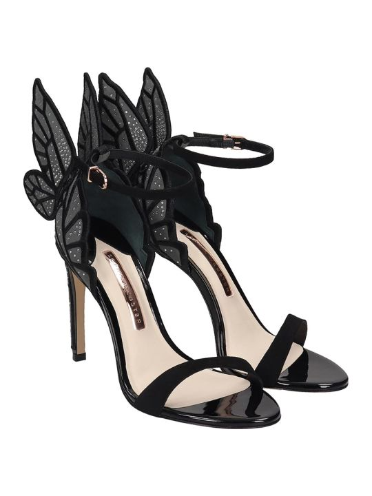 Sophia Webster Chiara Sandals In Black Suede And Leather