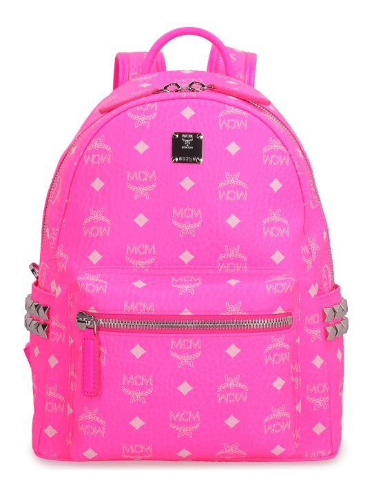 MCM Stark Neon Visetos Backpack With Studs