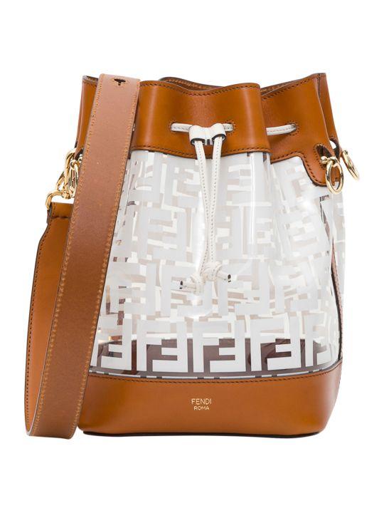 Fendi Mon Trésor Pvc And Leather Bucket Bag
