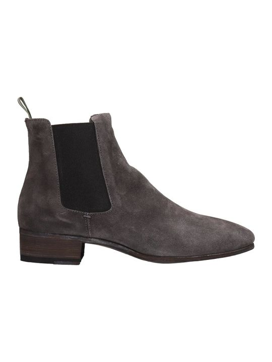 Officine Creative Grey Suede Ankle Boots