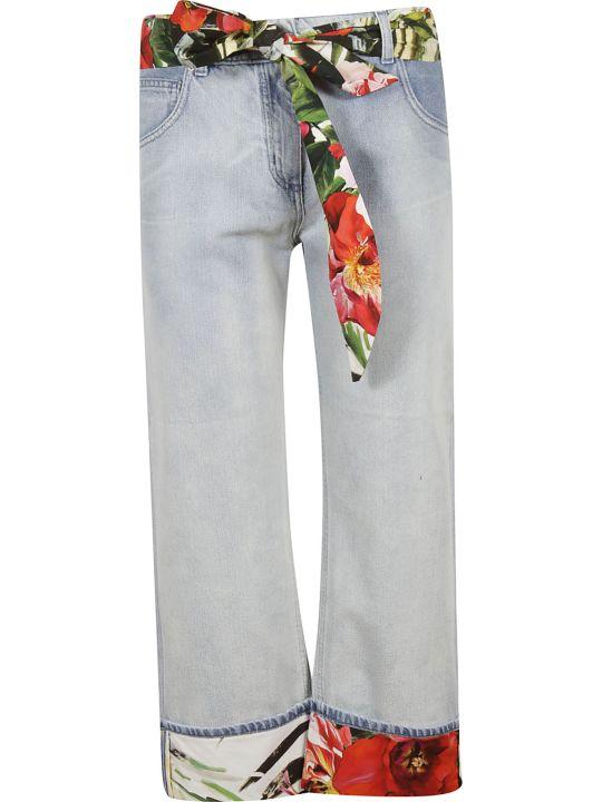 Blumarine Floral Pattern Jeans