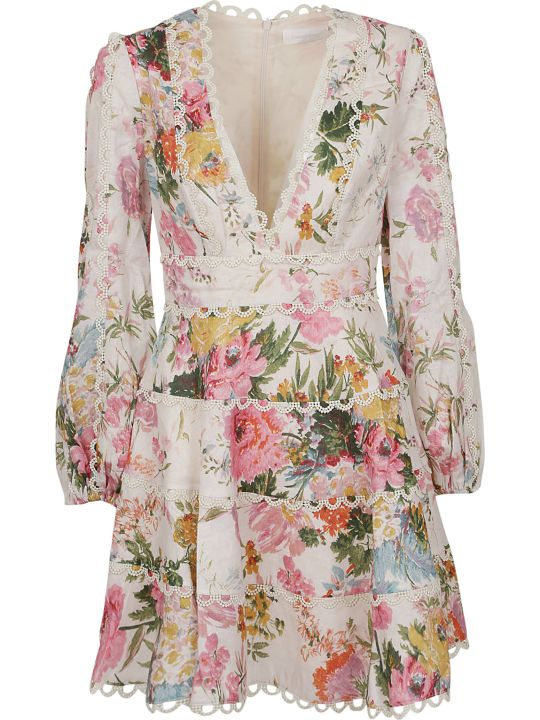 Zimmermann Heather Flounce Mini Dress