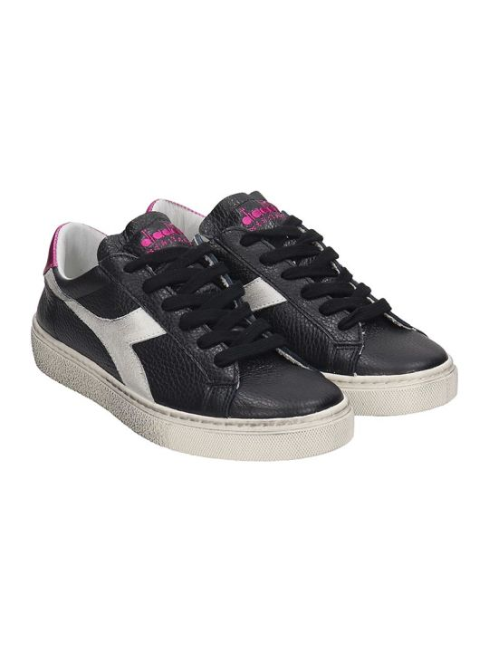 Diadora Montecarlo  Sneakers In Black Leather