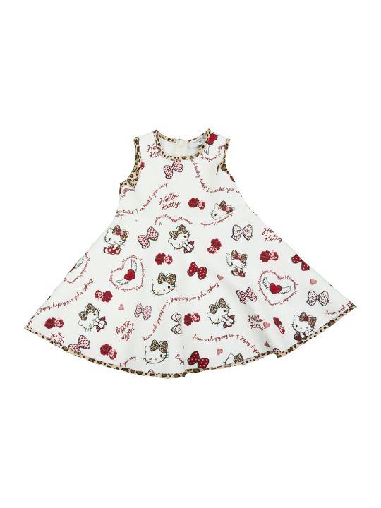 Monnalisa Sleeveless Spotted Dress