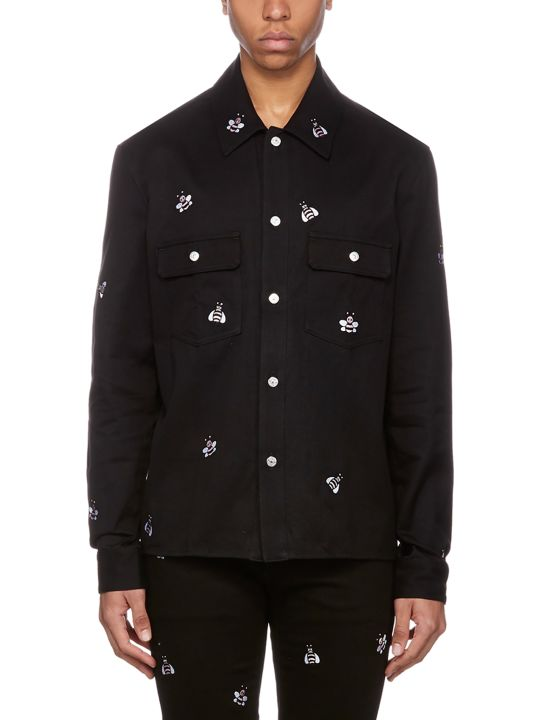 Dior All Over Embroidered Bee Shirt