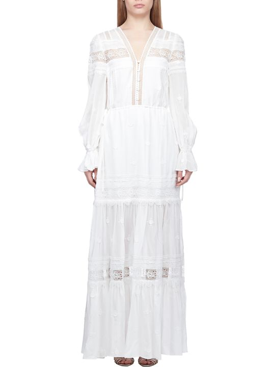 self-portrait Plumetis Maxi Dress