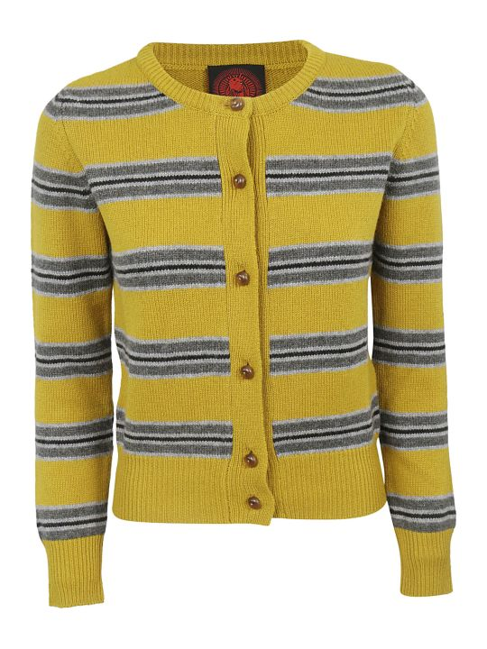 Happy Sheep Striped Cardigan