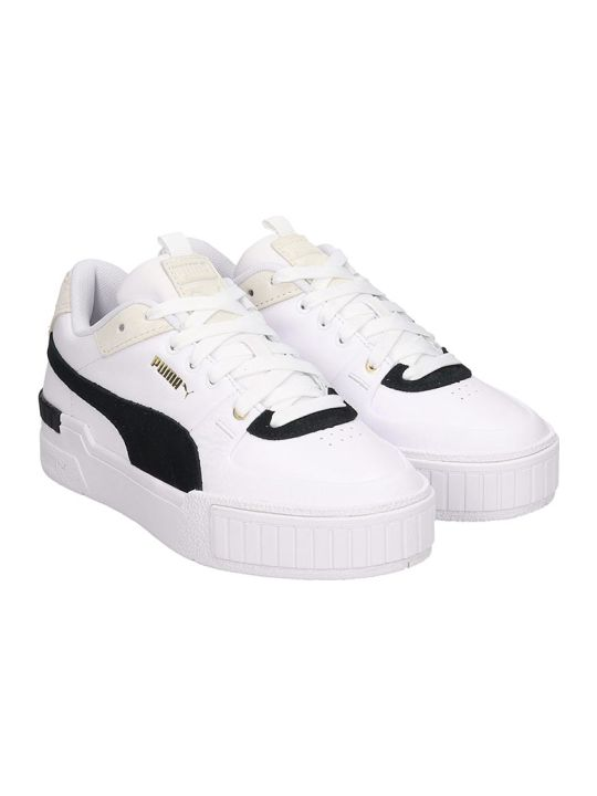 Puma Cali Sport Heri Sneakers In White Leather