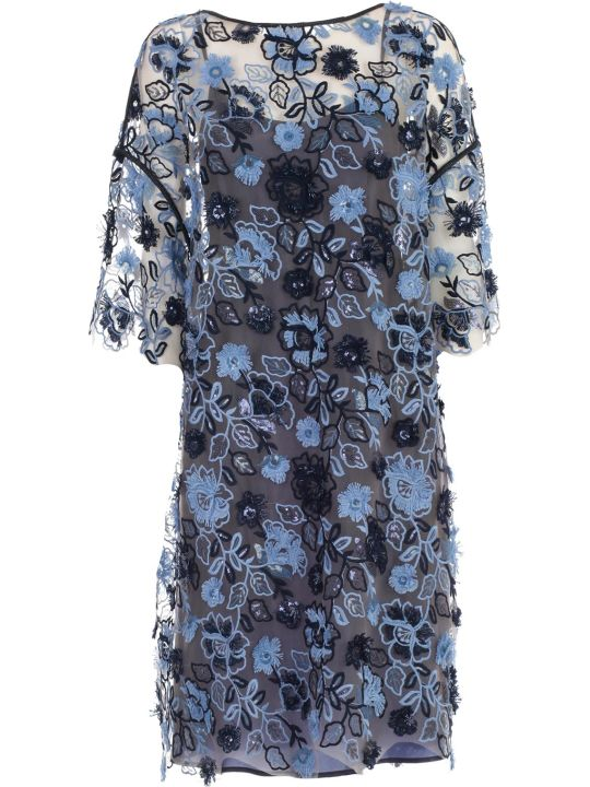 Antonio Marras Dress S3/4 Round Neck W/flower
