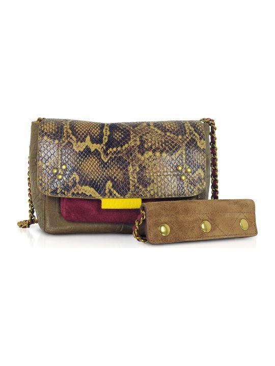 Jerome Dreyfuss Lulu S Africa Caviar Leather Shoulder Bag