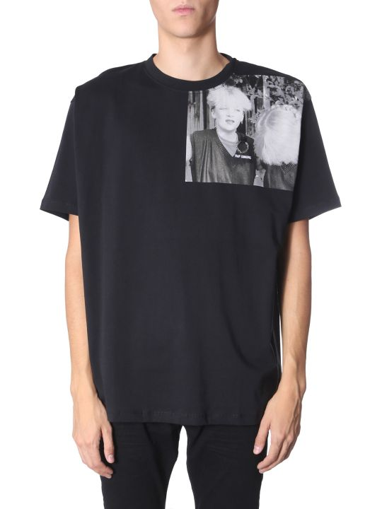 Fred Perry by Raf Simons T-shirt With Printed Shoulder