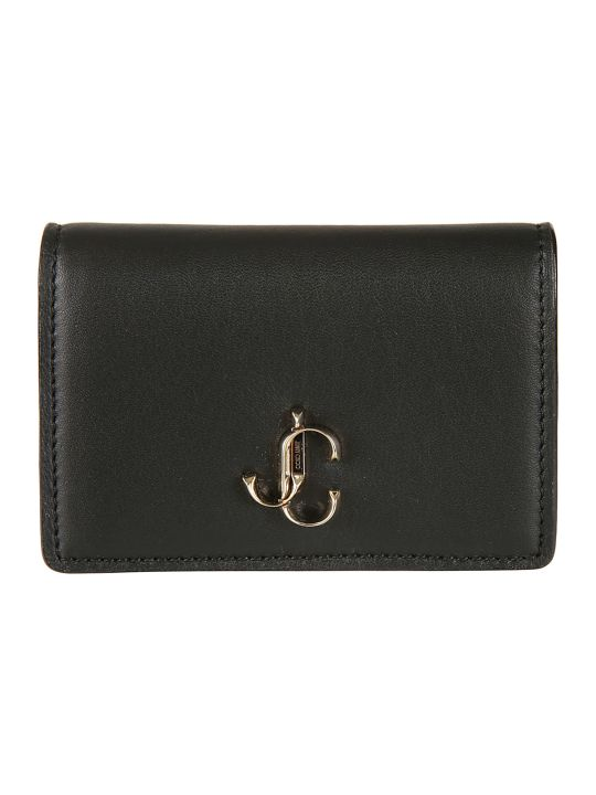 Jimmy Choo Logo Plaque French Wallet