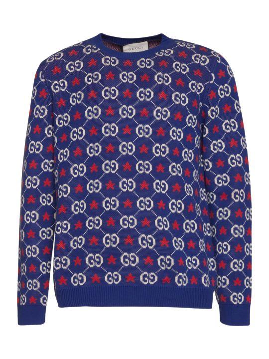 Gucci Magione Gg Jcquard In Blue