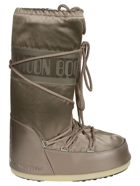 Moon Boot Logo Detail Leg Laced Boots