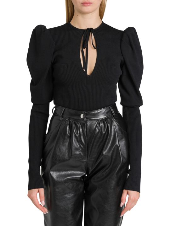 MSGM Knitted Bodysuit With Puffed Sleeve