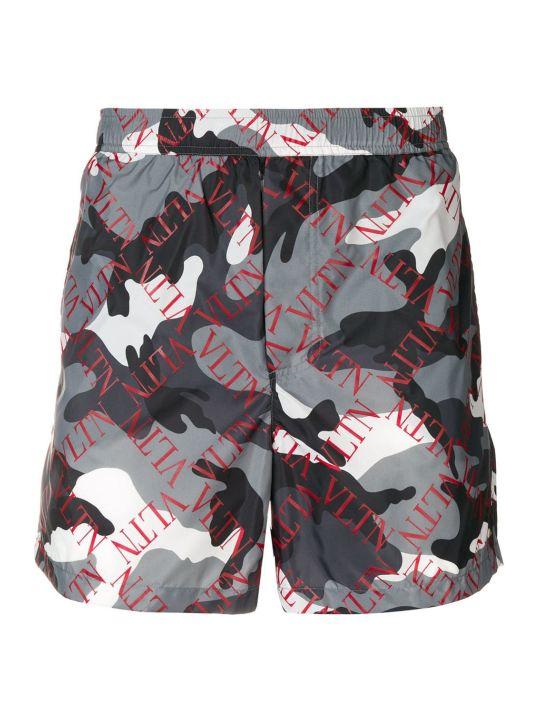 Valentino Vltn Logo Swim Shorts