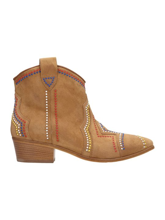 Janet & Janet Tex Light Brown Suede Ankle Boots