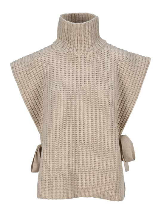 See by Chloé See By Chloe' Sleeveless Turtleneck Knitted Top