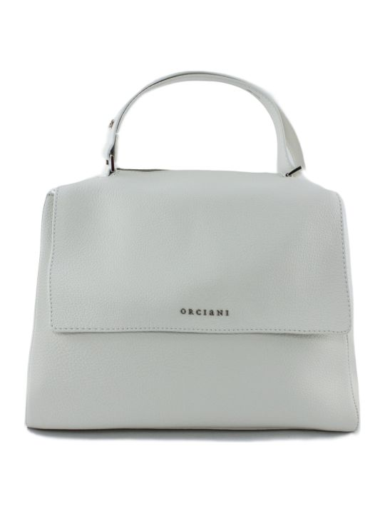 Orciani White Leather Sveva Bag