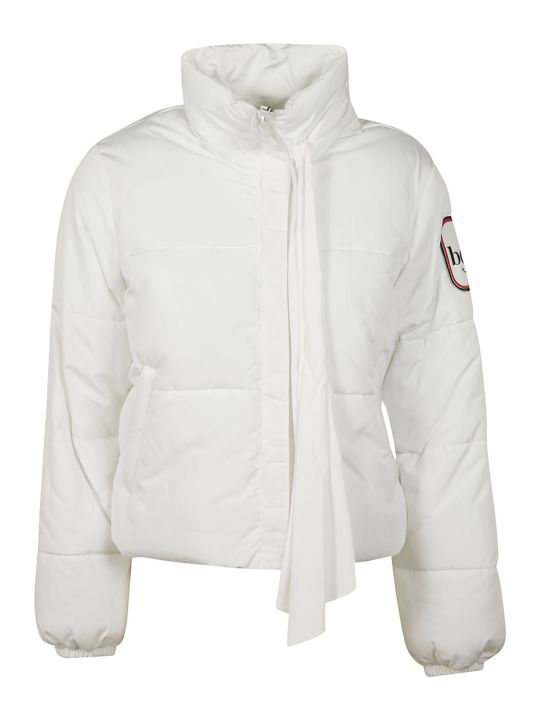 Be Blumarine Tie-neck Padded Jacket