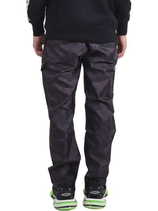 SSS World Corp Black Patterned Trousers