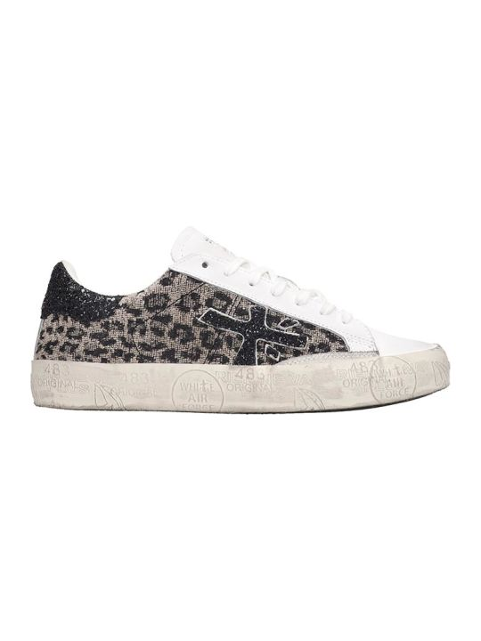 Premiata Timeless Sneakers In Animalier Tech/synthetic