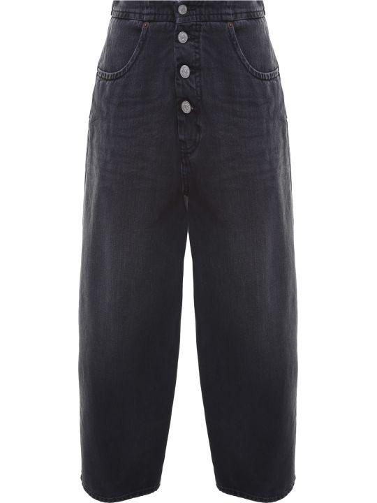 MM6 Maison Margiela High-rise Cotton-denim Baggy Jeans