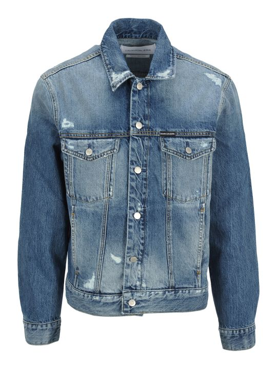 Calvin Klein Jeans Denim Jacket Broken
