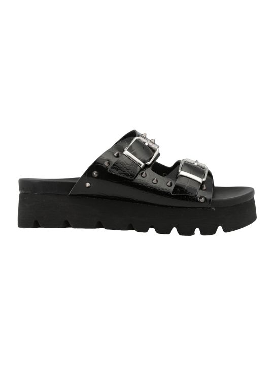 Cult Reptile Print Leather Sandal