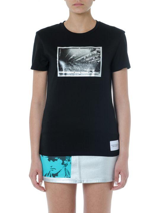 Calvin Klein Jeans Black Cotton Printed T Shirt