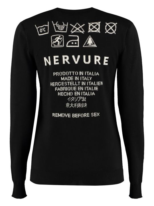 Nervure Crew-neck Wool Sweater