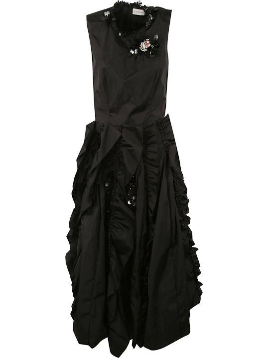 Moncler Genius Rocha Ruffled Sleeveless Dress