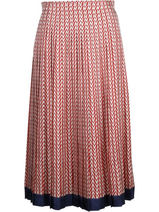 Valentino Optical Logo Print Skirt
