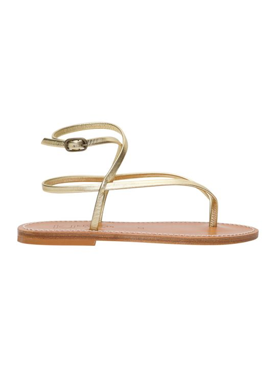 K.Jacques Golden Sandals