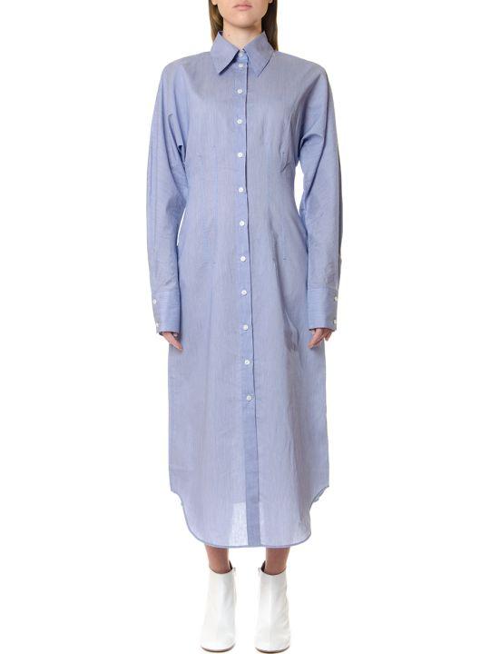 Acne Studios Oversize Powder Blue Shirt Dress
