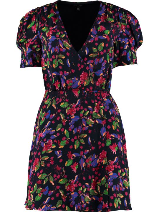 Saloni Lea Floral Wrap-dress