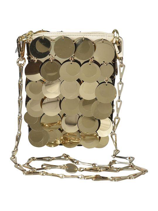 Paco Rabanne Metallic Long Embellished Shoulder Bag