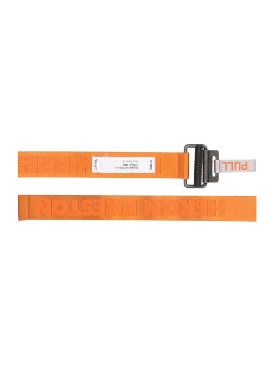 HERON PRESTON Belts In Orange Canvas