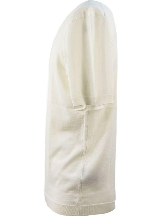 Drumohr Cream Cotton T-shirt