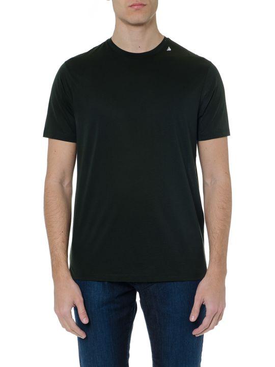 Emporio Armani Dark Green Mixed Cotton T Shirt