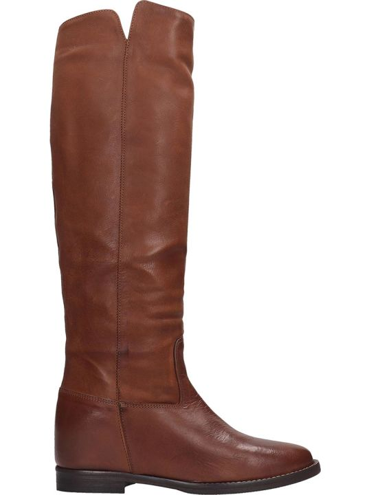 Julie Dee Boots In Leather Color Leather
