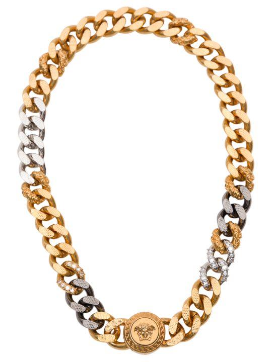 Versace Medusa Crystal Chain Necklace