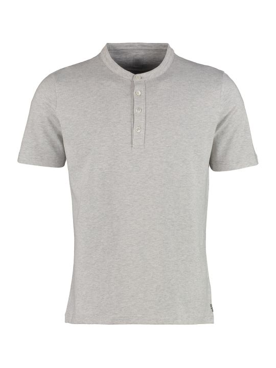 Eleventy Serafino T-shirt With Small Buttons